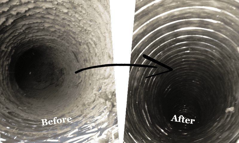 air duct cleaning galveston - before and after