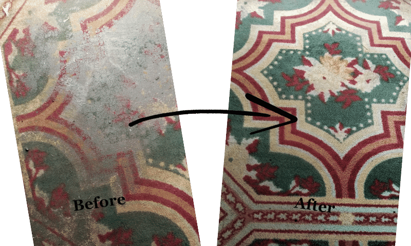 rug cleaning galveston - before and after
