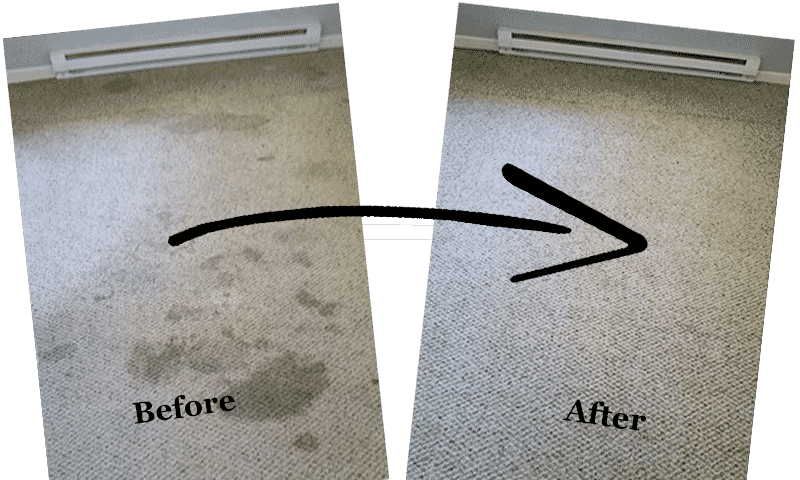 carpet stain cleaning galveston - before and after