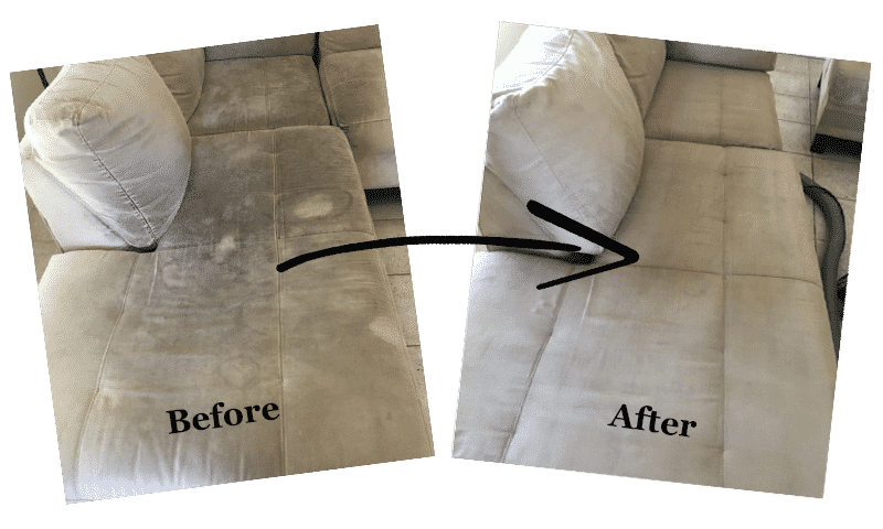 upholstery cleaning galveston - before and after