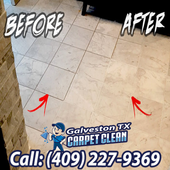 Tile And Grout Cleaning Before and After Galveston TX